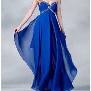 Royal Blue Cinderella Divine Long Formal Dress